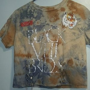 Distressed Black Veil Brides shirt.